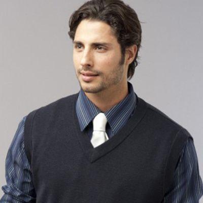 Mens Sleeveless Vest Min 25 - A 50% wool, 50% viscose blend knitted sleeveless vest. http://www.promosxchange.com.au/mens-sleeveless-vest/p-11082.html
