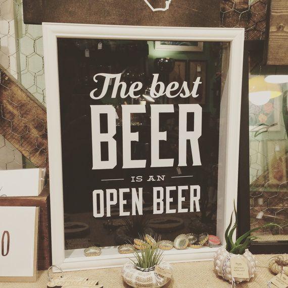 Porte-bouchon de bière 11 x 14 avec citation — cadre Shadowbox