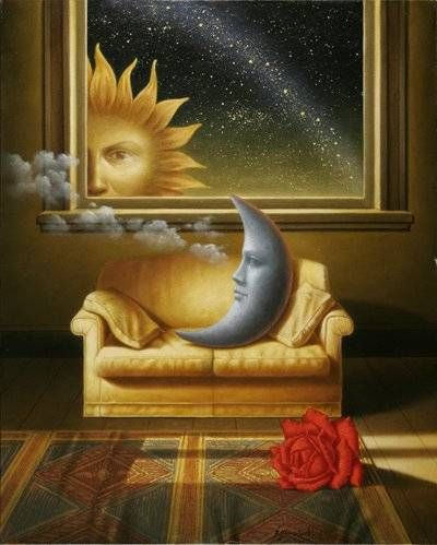 """I'm putting this under my """"Pillow"""" board becaue the moon would make an amazing pillow - Inspiration ANTONIO NUNZIANTE"""