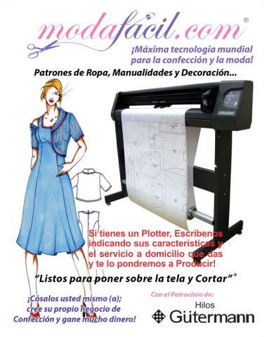 ¿Tienes un Plotter? únetenos a nuestra Red Internacional de Centros de Im presión de Patrones Modafacil.com