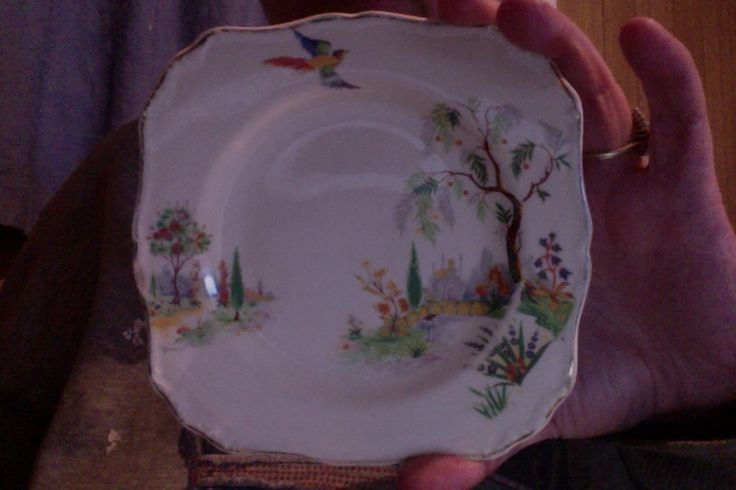 """J & G Meakin 1912 SOL """"persian gardens"""". Just one bread and butter plate...love it but I think I shall put it on ebay so it can go to someone who needs to pattern match"""