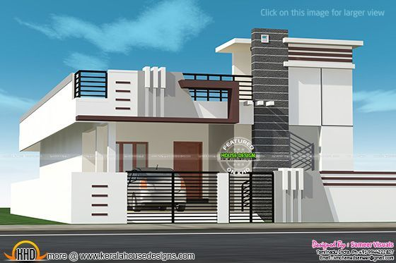 191 best house elevation indian single images on pinterest for Single floor house designs tamilnadu