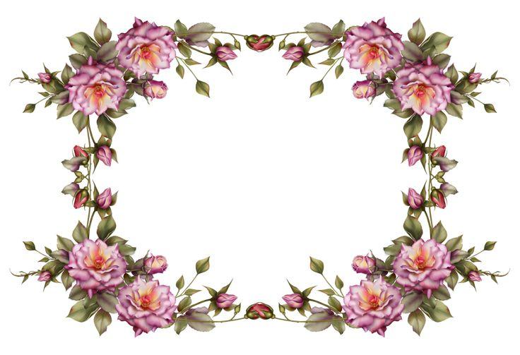 Flower frame by collect-and-creat.deviantart.com on @deviantART