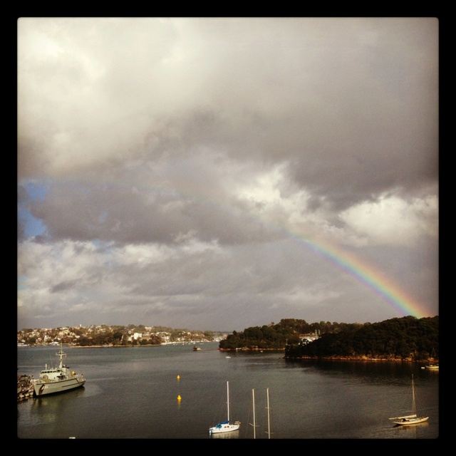 Sunday morning coming down Waverton Sydney harbor