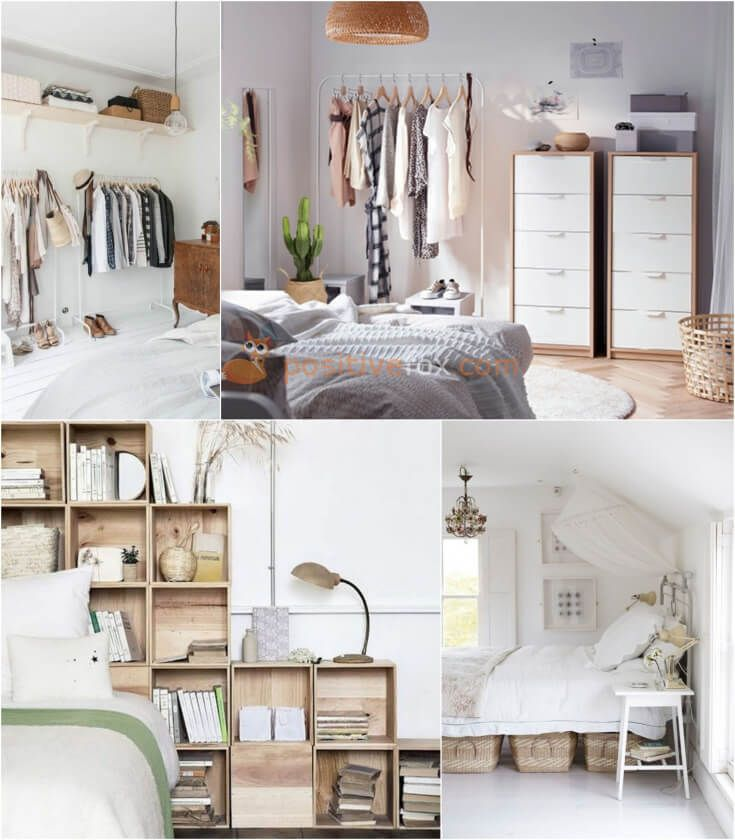 Bedroom Storage Ideas. Home Storage Ideas. Explore more Bedroom Storage Ideas on https://positivefox.com #bedroomstorageideas #homestorageideas #homeideas #bedroomideas #interiordesign #bedroom #diy