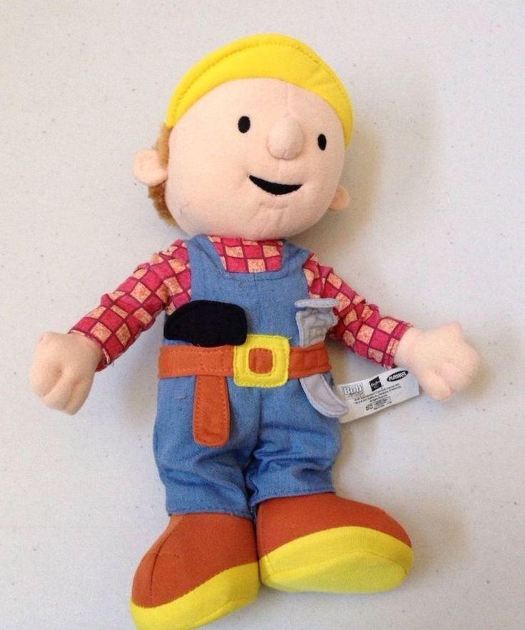 "Bob The Builder Plush Stuffed Toy Doll 10"" 2001 Hasbro ..."