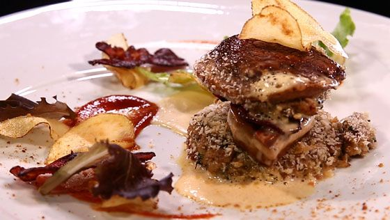 - Burger de cèpes- Foie gras- Réalisation