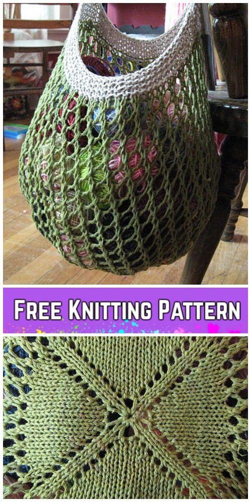 Knit Grrlfriend Market Bag Padrão De Tricô Livre