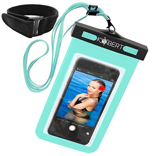 From 8.99 Kobert Waterproof Cell Phone Case (pro Green) Dry Bag Pouch For Iphone 6s 6s Plus Samsung Galaxy S7 S7 Edge S6 Any Phone Up To 6 Inches - Green Strap And Armband