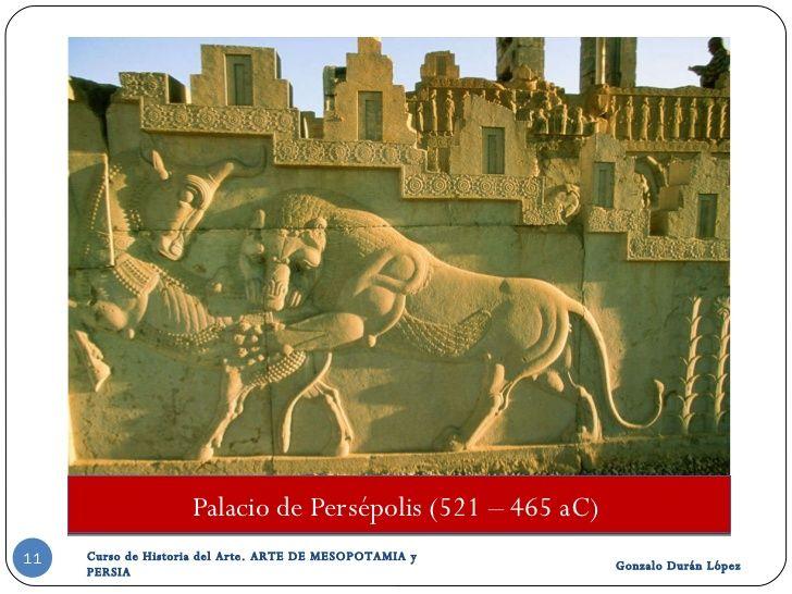 Palacio de Persépolis (521 – 465 aC)  Gonzalo Durán López Curso de Historia del Arte. ARTE DE MESOPOTAMIA y PERSIA