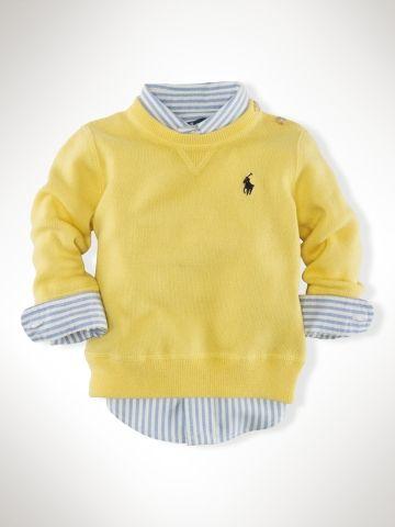 Crewneck Sweater - Infant Boys Sweaters - RalphLauren.com