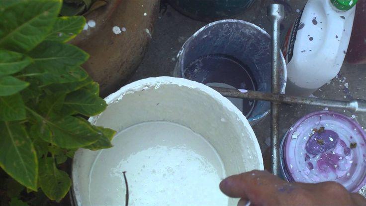 como hacer pintura vinilica economica casera
