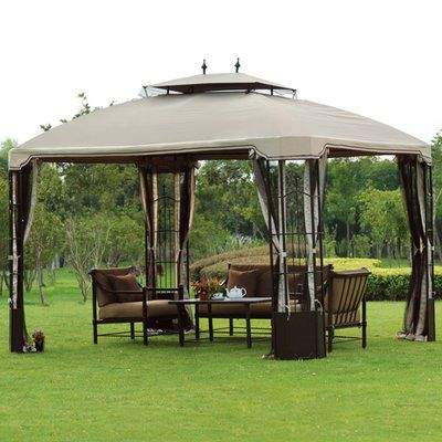 Sunjoy Replacement Canopy for 10' W x 12' D Bay Window Gazebo