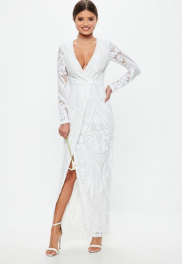 3ed346368b9f White dress with a wrap over front