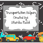 Transportation Helpers consist of:  *a bus tag  *a bus list  *small bus accents  *a car rider tag  *a car rider list  *walker/car rider tags  *walker/car ...