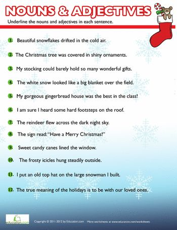 christmas nouns and adjectives 2 christmas nouns adjectives nouns worksheet seasons. Black Bedroom Furniture Sets. Home Design Ideas