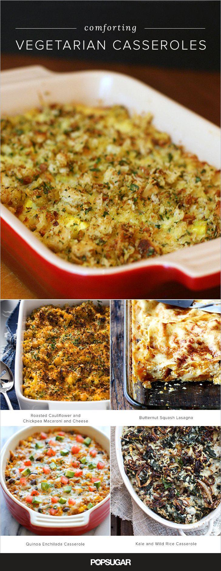 Here we've rounded up 21 terrific casserole recipes that are comforting, delicious, plus vegetarian-friendly; do note that a couple recipes call for chicken stock — to make those vegetarian, simply substitute vegetable stock.