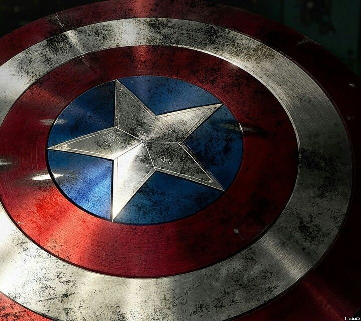 AMERICANA Superhero. Captain America. Shield.