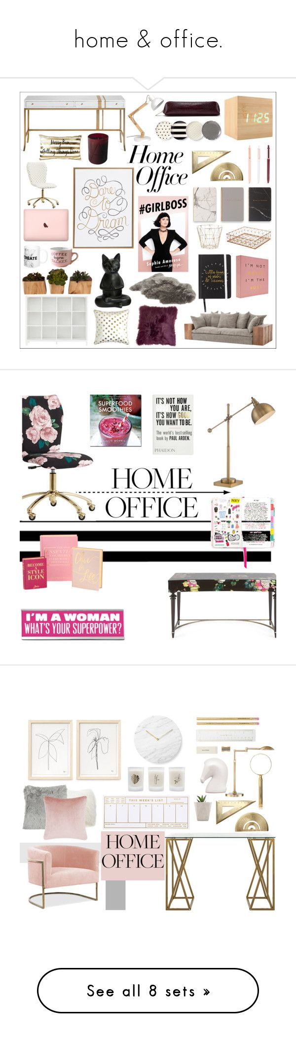 """home & office."" by micahlouuu ❤ liked on Polyvore featuring interior, interiors, interior design, home, home decor, interior decorating, PBteen, UGG, Kate Spade and Eccolo"