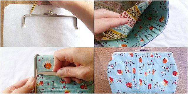 Framed purse tutorial (44) by El color de la suerte, via Flickr