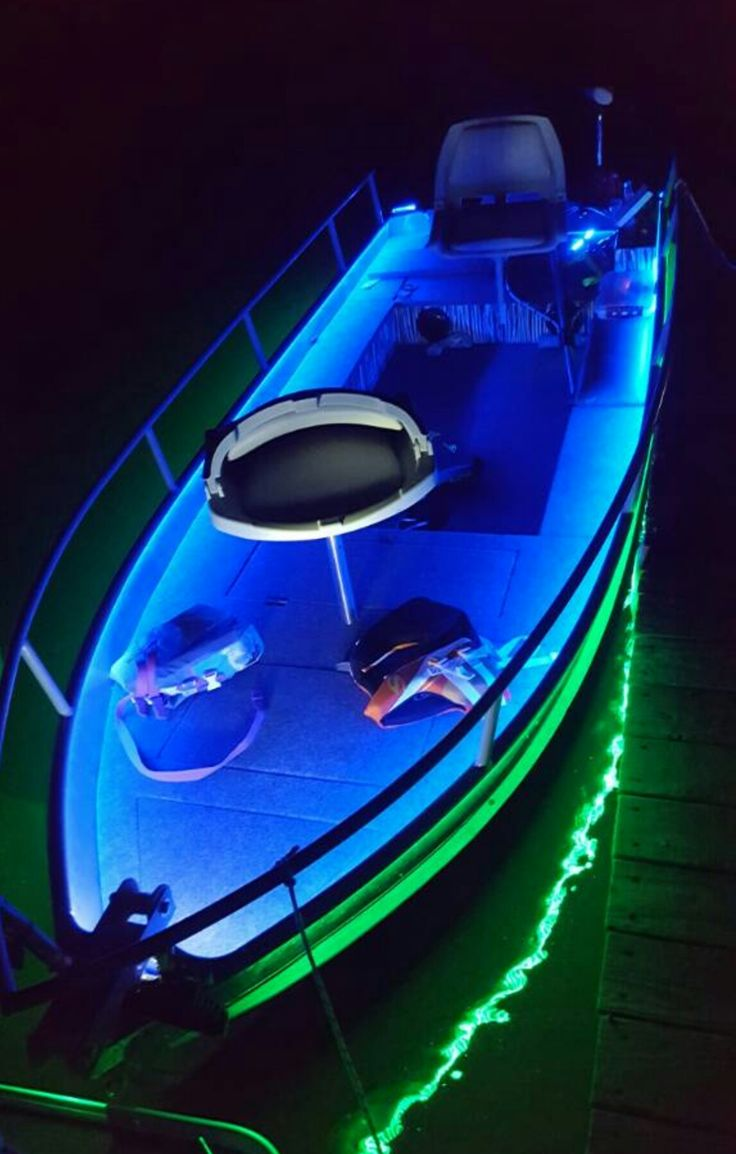 Amazing custom jon boat with lights