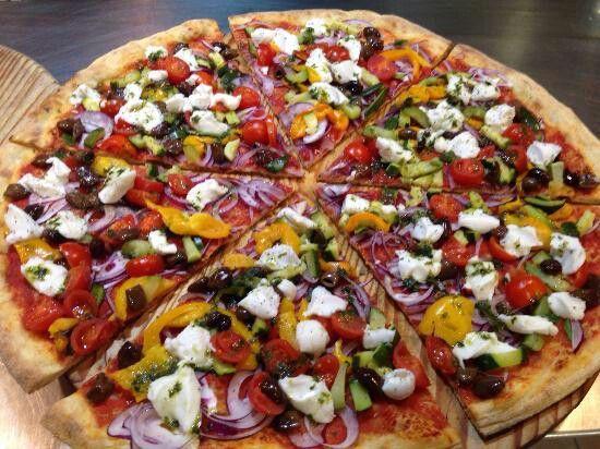 #Bellissima e #gustosissima! #Pizza Greca con #Strachicco di #riso,  #senzalattosio e senza derivati #animali. Pizza da Ignazio (VI)  #veganfood #dairyfree #crueltyfree #vegetale #biologico #Verys