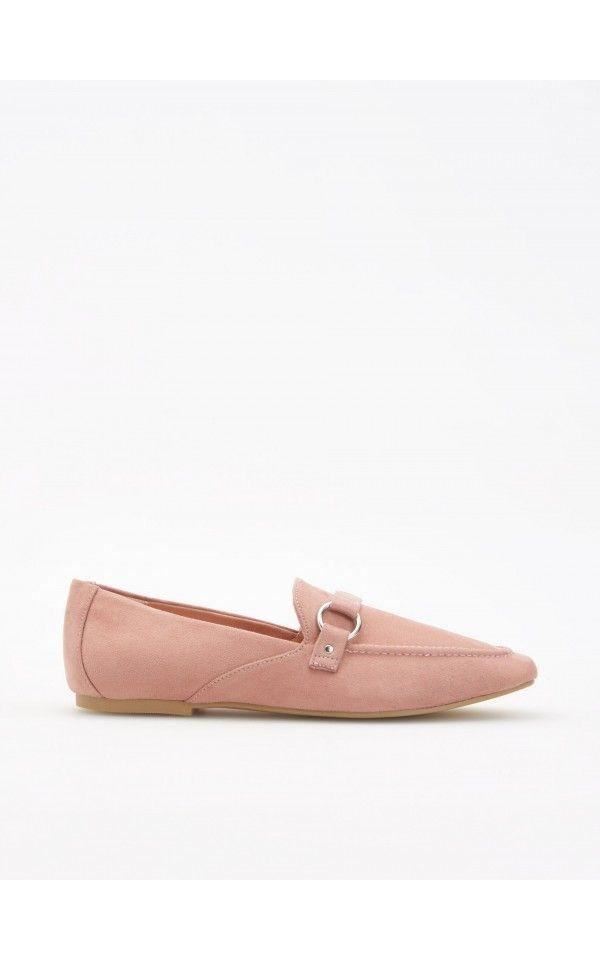 Лоферы с пряжкой, Обувь, розовый, RESERVED