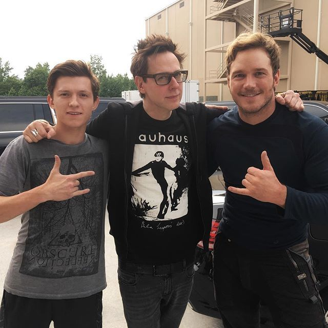 Many blessings today to the star of Spider-Man: Homecoming, Tom Holland, and the film's director, Jon Watts (standing in here for Jon is some dude that was passing by), as they begin their shoot in Atlanta just as we are ending ours. I don't think we could pass the Marvel baton to two nicer, better guys who care more about what they're doing. Kill it!