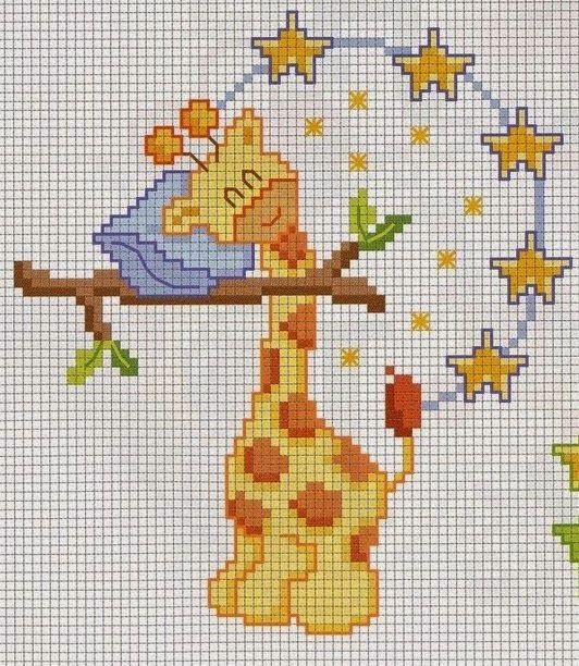 **Blog Amor Perfeito** Gráficos de ponto cruz: Girafas