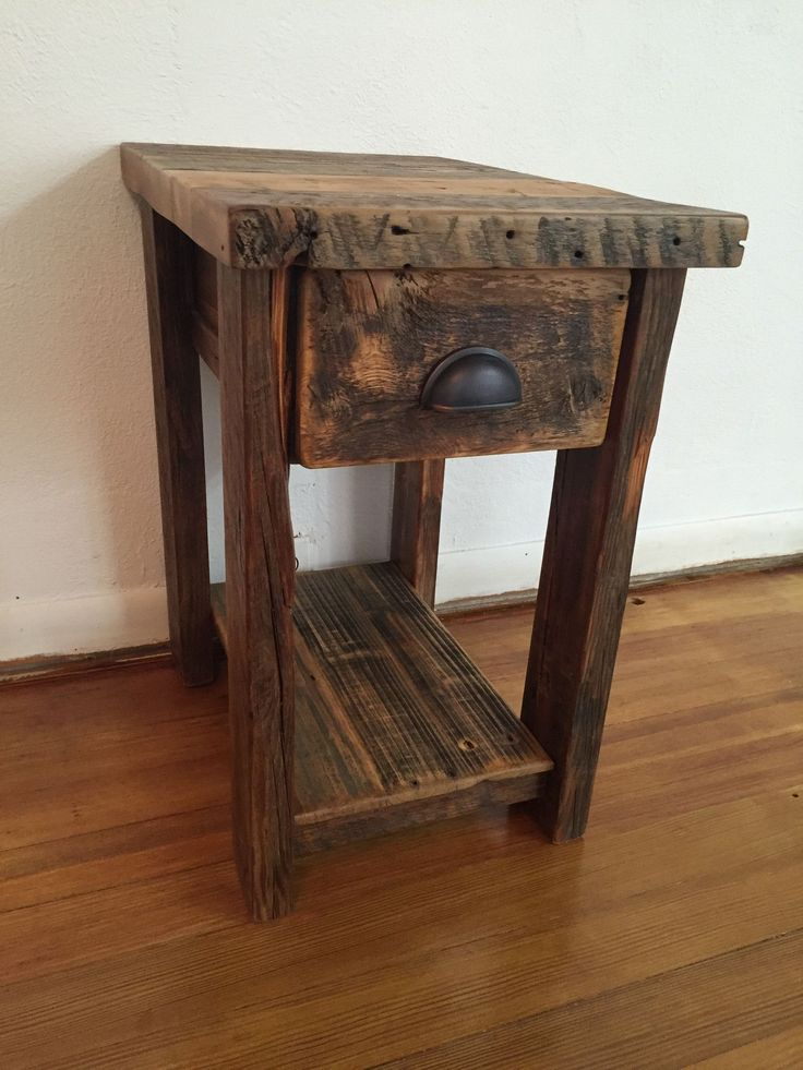 Best 25 rustic end tables ideas on pinterest farmhouse for Table th right