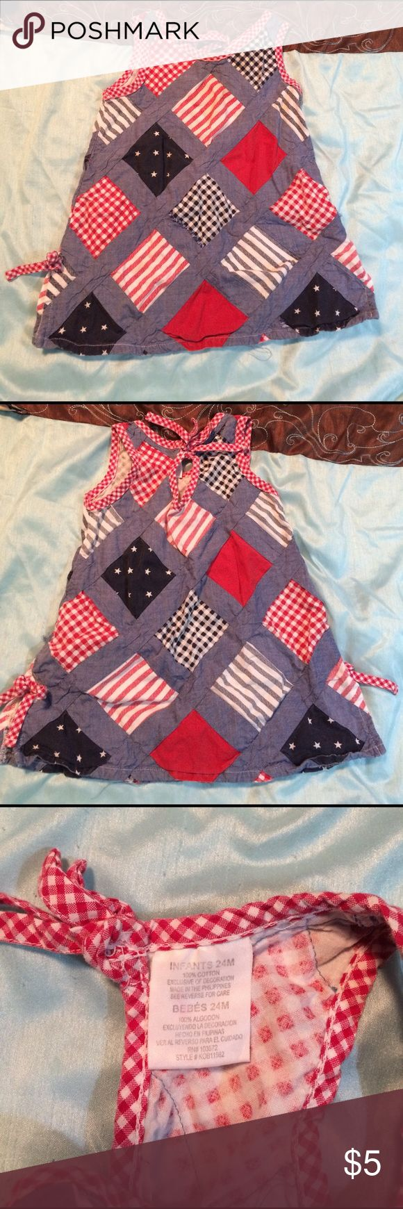 24 months patriotic tank top Great for fourth of July. Used but still cute. From smoke free home. Shirts & Tops Tank Tops