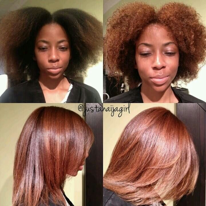 Colored & flat iron