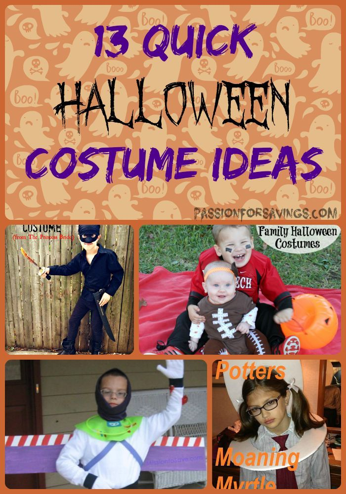 13 Costume Ideas for Quick and Easy Last Minute Halloween Ideas!