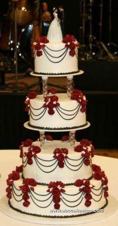 pasteles de boda elegantes con fuente - Buscar con Google