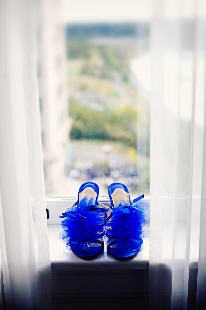 Zapatos de novia azules 9