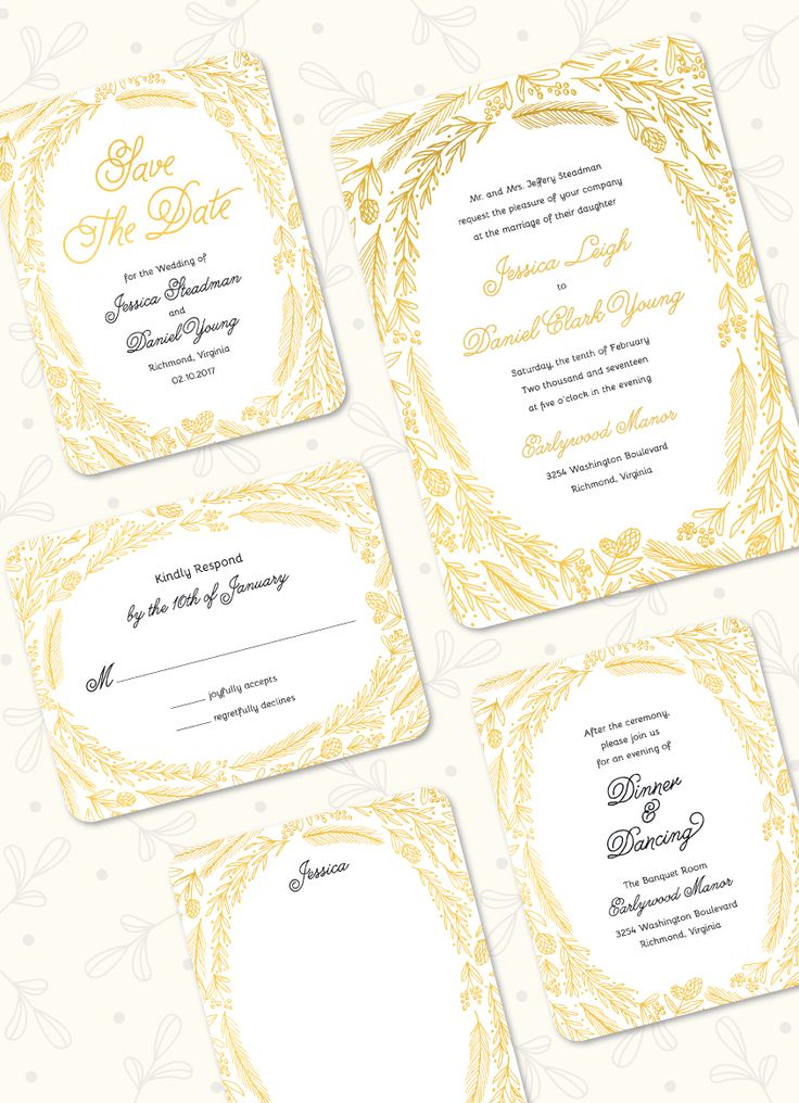 Ring of Love Foil Pressed Wedding Suite: Save the Date, Invitation, Reply Card, Flat Note, Reception Card by Stacy Claire Boyd. Foil available in Gold, Rose gold, Silver, Copper, and Red.