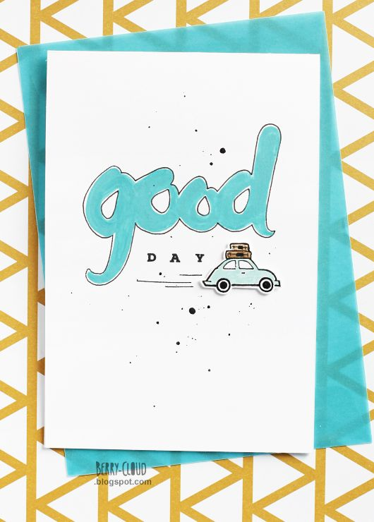 BerryCloud. Creo, ergo sum: Good Day / Card My illustration for CAS card