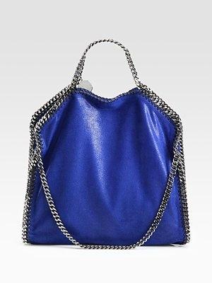 Love this color...cobalt is my new color!: Colors Bags, Stella Mccartney, Bags S Bags S Bags, Shaggy Deer, Blue Handbags, Bags Bags, Bags It, Small Totes, Deer Falabella