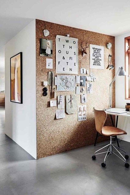 Cork Wall - From stylish paint projects to game-changing accessories, the H&G guide to refreshing your home on a budget - interiors on HOUSE by House & Garden #homeofficeideasonabudget