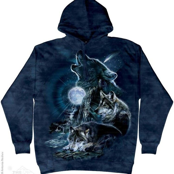 (ALL-NEW-BARKING-AT-THE-MOON,DETAILED-BLUE-PULLOVER-HVY.WT.HODDIES) from https://squareup.com/market/the-tee-shirt-shack for $49.95 on Square Market