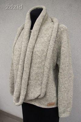 http://tojazdzid.blogspot.com/2016/12/komin-do-swetra.html - sweter i komin w komplecie - Alta Moda Alpaca (Lana Grossa)