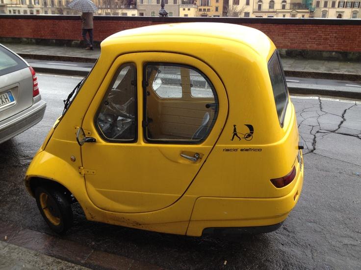 tiny yellow car travel cars small cars weird cars