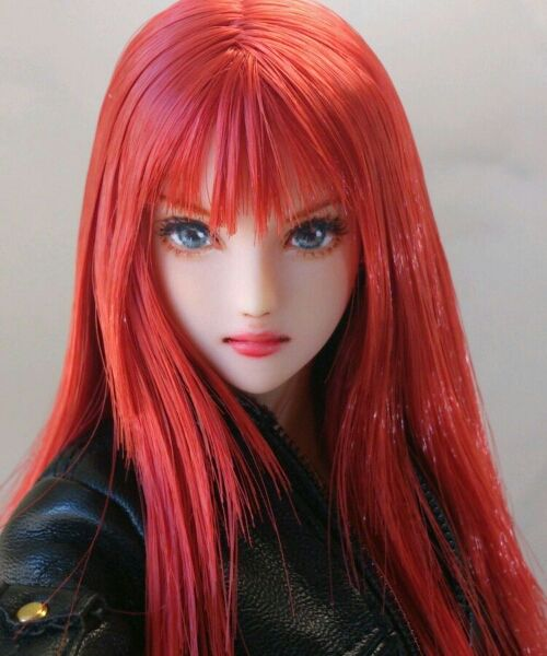 * Hana * 1/6 custom doll head Obitsu * one of a kind *