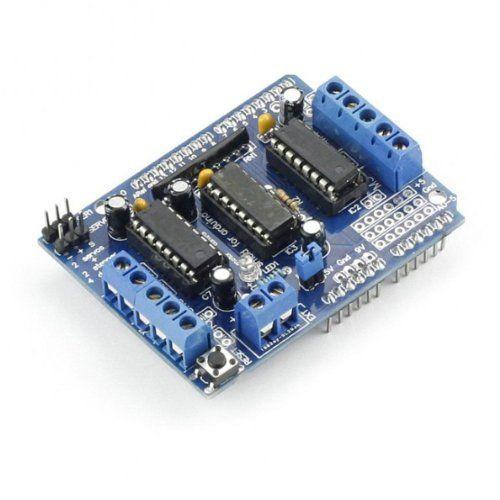 SainSmart L293D Motor Drive Shield For Arduino Duemilanove Mega UNO R3 AVR ATMEL by SainSmart, http://www.amazon.co.uk/dp/B0081JPBA6/ref=cm_sw_r_pi_dp_VY5Jsb1BFJ0WG