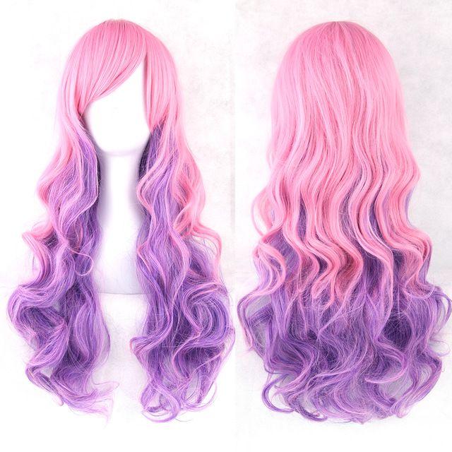 Soowee 13 Цветов Волнистые парик женщин высокого Температура Волокна синтетические парики длинные волосы Ombre Косплэй Парики купить на AliExpress