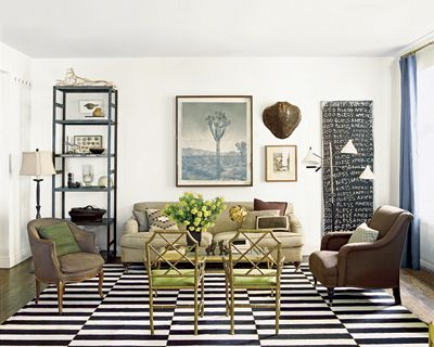 Suzie: Nate Berkus Design   Black, Tan, Green Living Room Design Part 55