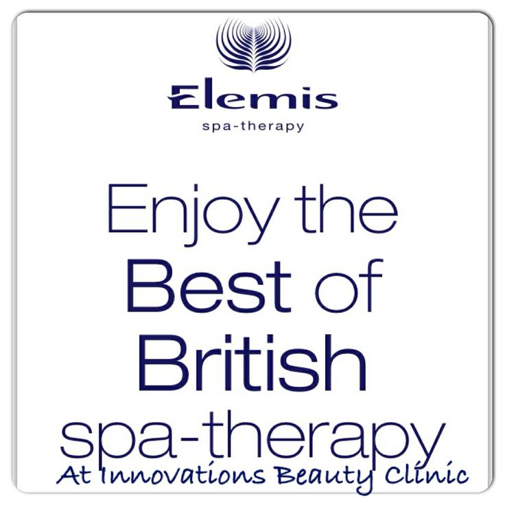 Elemis facials and body treatments.