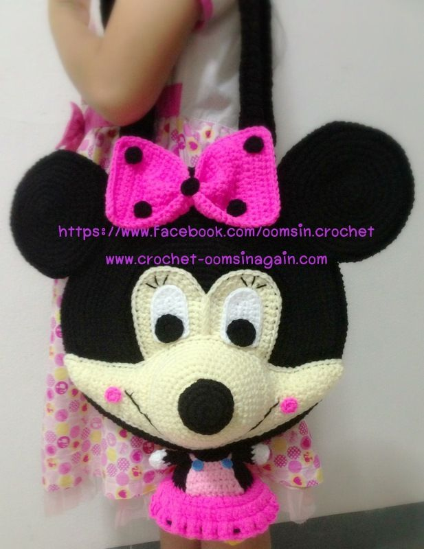 Free Crochet Mickey Mouse Purse Pattern : Pats Phase Bag Minnie - www.crochet-oomsinagain.com ...