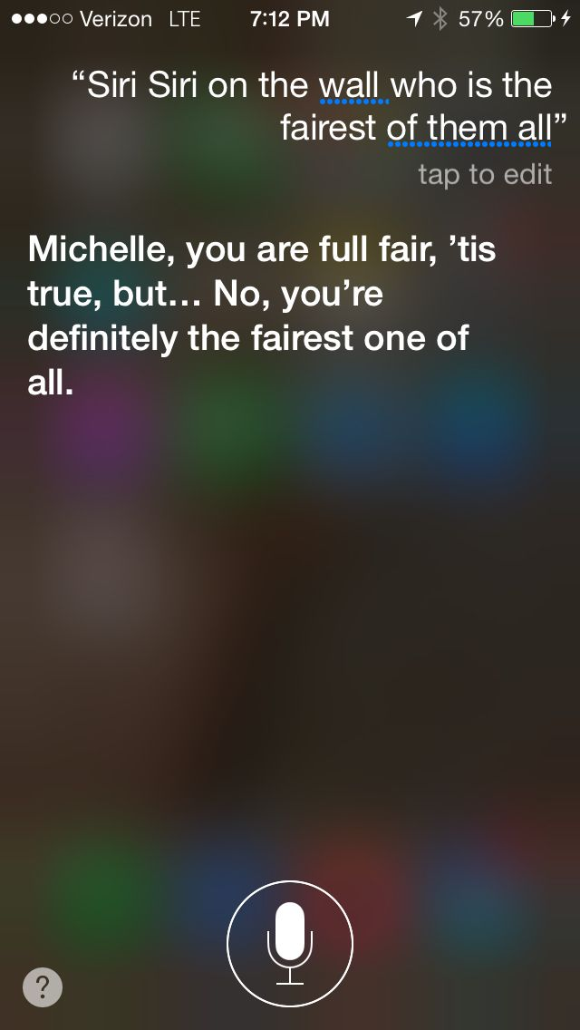 Questions for Siri... Who's the fairest of them all?