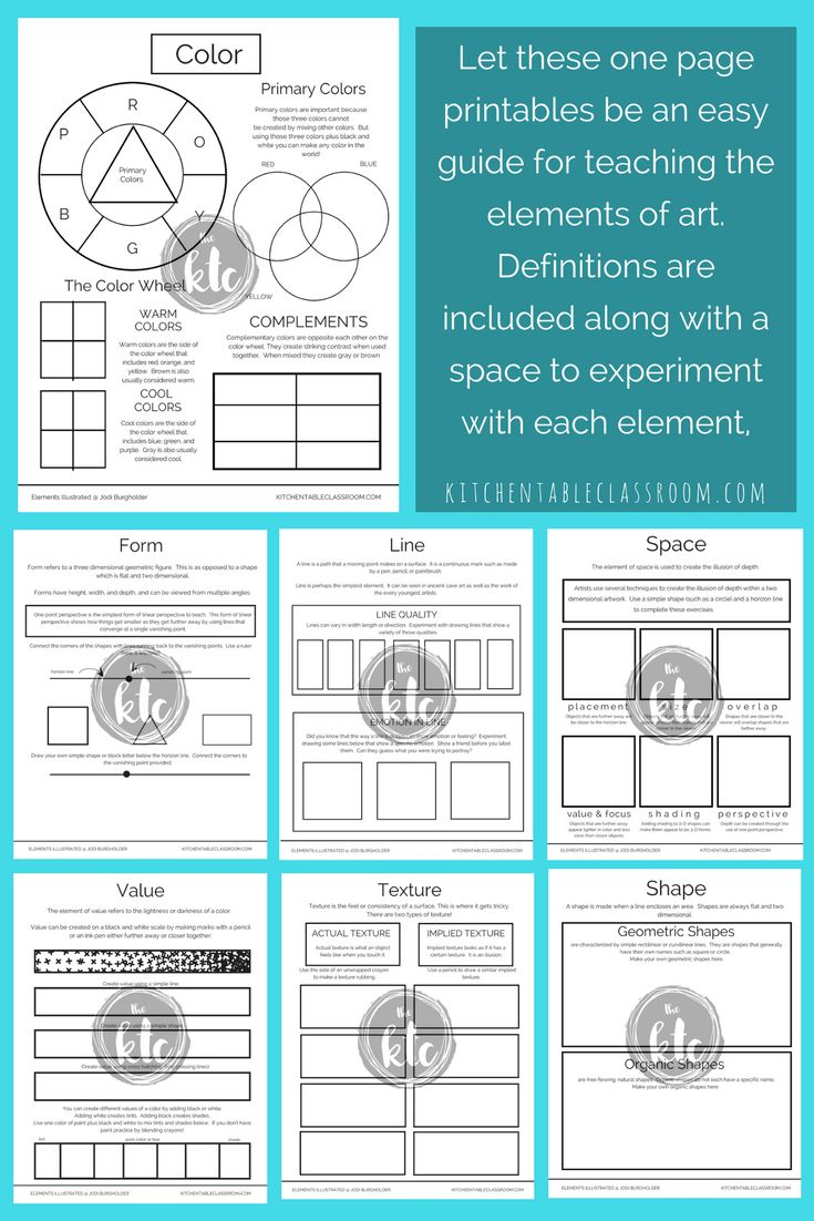 The elements of art are kinda' a big in deal in my art teacher-y opinion. They are the basics of making and talking about art. Use these elements of art posters and huge bundle of other resources to get started ASAP! Printable pages, posters, books, a word search, quiz, and crossword make teaching easy!